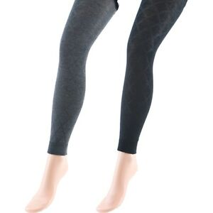 collant legging femme maille fantaisie noir gris TU victorine  5a2fbd73b6e