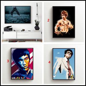 Bruce Lee Star Leinwand Wandkunst Malerei Poster Print Home Decor Ungerahmt