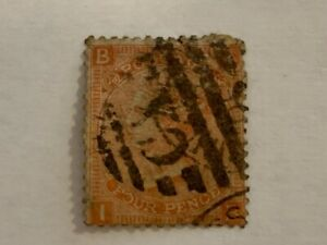1873-Queen-Victoria-4-penny-stamp-sg-93-plate-14-dull-vermillion-cv-90-00