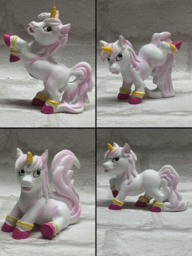 Unicorn Cake Topper Figurine Ceramic Display Pink /& White