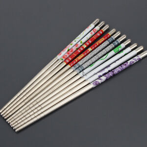 5-Pairs-Stainless-Steel-Chopsticks-Anti-skip-Chop-sticks-Set-Assorted-Kitchen