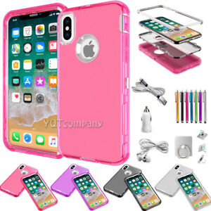 For Apple iPhone XR 10 XS Max X Clear Shockproof Hybrid Rugged Phone Case Cover