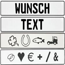 2 x KFZ Kennzeichen  OHNE EU  ZEICHEN  Nummernschilder  Autoschild  BLANKO