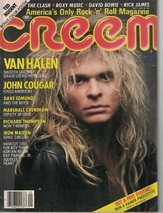 1982 Creem September- Van Halen; Iron Maiden; Ted Nugent; Dave Edmunds; Cougar