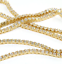 thumbnail 2 - 3mm VVS Lab Diamond 1 Row Yellow Gold Plated Tennis Chain Solid Steel Necklace