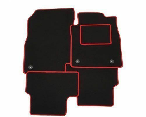 VAUXHALL VECTRA (2002 ON) Fully Tailored Car Floor Mats RED TRIM + Clips