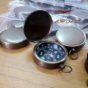 Antique Brass Lid Compass 45 mm Lot Of 25 Pcs Marine Collectible