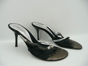 b643947aa2cf Image is loading Giuseppe-Zanotti-Design-Black-Jewel-Embellished -Snake-Thong-