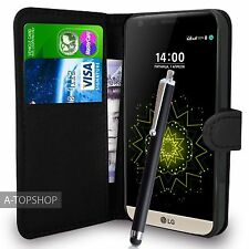 Black Wallet Case PU Leather Book Cover For LG G5 H850 Mobile Phone