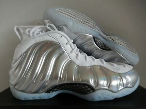 c1dc1873417 WMNS NIKE AIR FOAMPOSITE ONE WHITE-CHROME BLUE TINT SZ 8  AA3963-100 ...