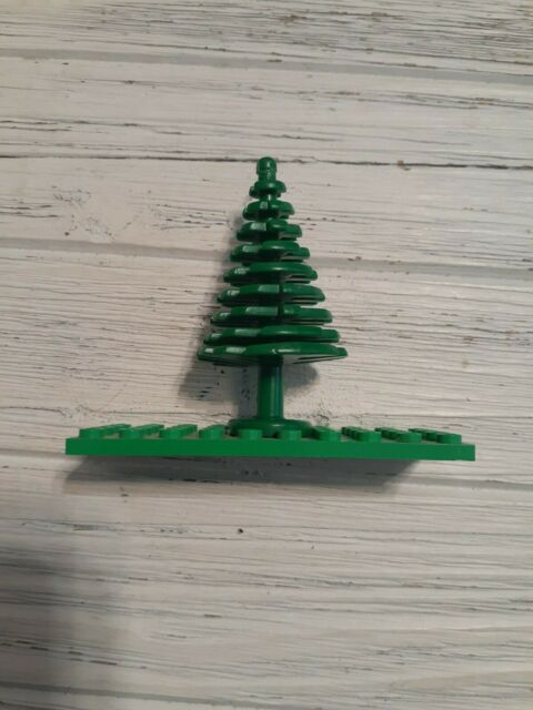 Custom green thing 10 x christmas tree wood for landscaping city lego