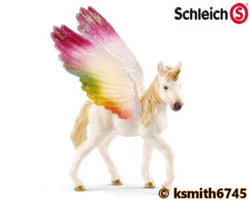 Schleich ALATA Rainbow Unicorno Puledro Cavallo Animale Giocattolo di plastica Pet FANTASY NUOVO