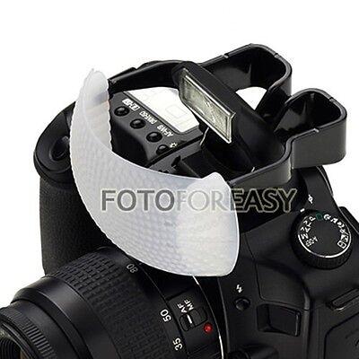 White Color Puffer Pop-Up Flash Diffuser For Camera DSLR SLR Canon Nikon Pentax