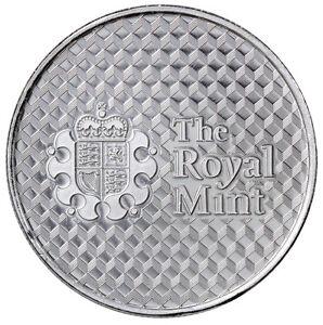 Royal Mint Center Shield 1 Troy Oz 999 Fine Silver Round