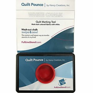 Quilt Pounce Pad With Wash Out White Chalk Powder 2 Oz