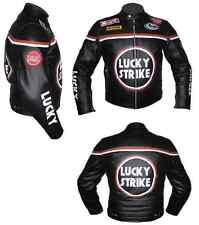 Lucky Strike-Motorbike/Motorcycle Leather Racing Jacket,CE ARMORED (Replica)