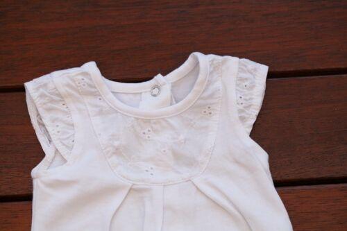 NEW Baby Girl Summer Cotton /& Lace Bodysuit Romper size NB Newborn photo prop