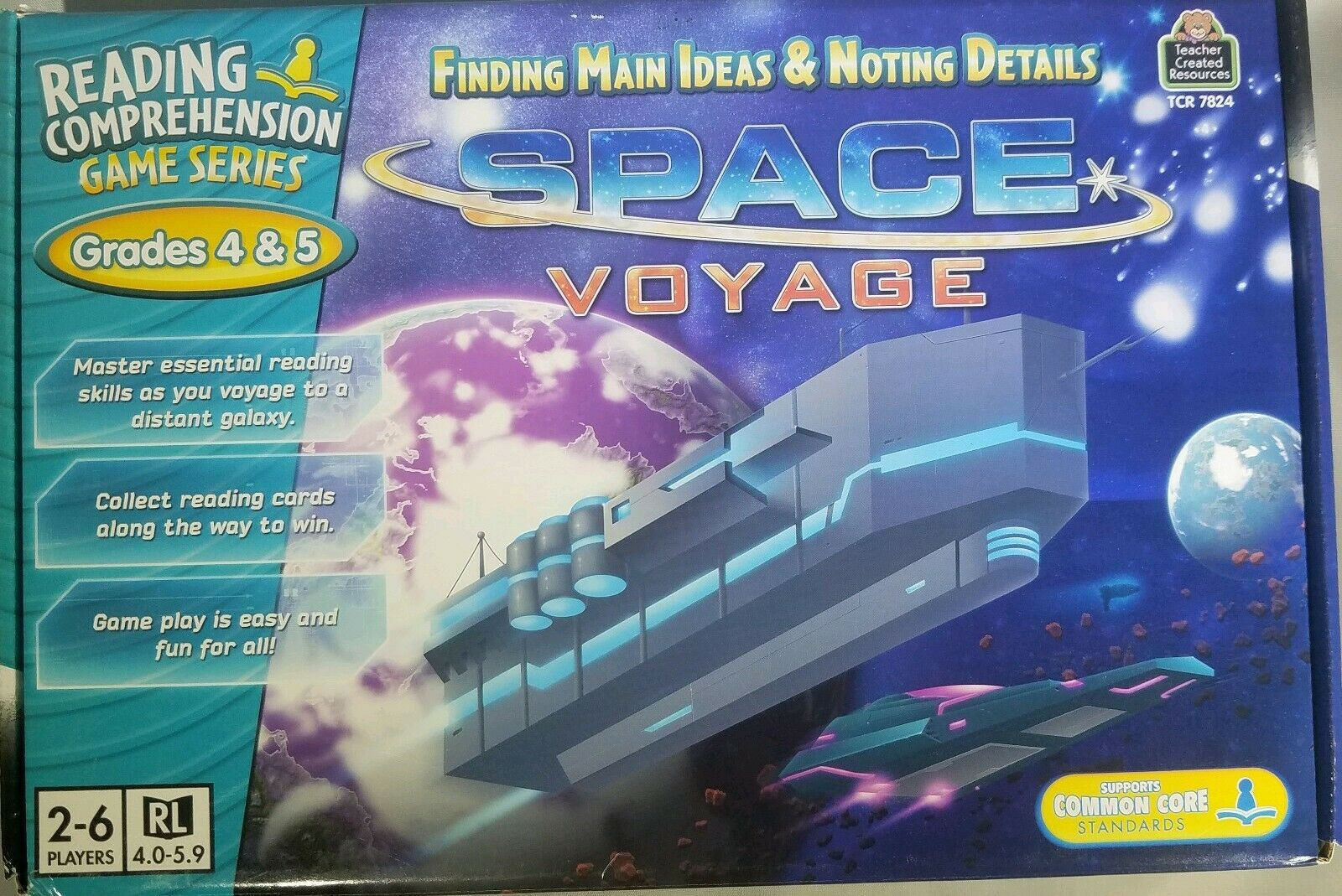 - TCR 7824 Space Voyage Reading Comprehension Teacher Game Grades 4