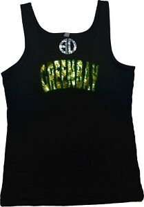 Green-Bay-Bling-Tank-Top-sequins-Shirt-no-rhinestones-glitter-sparkly-tee