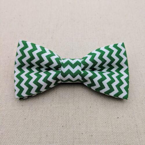 Green Chevron Bow Tie Boy Bow Tie Kid Bow Tie Men/'s Bow Tie Adjustable Strap