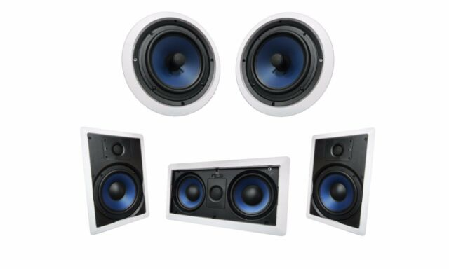 2x 82W /& 2x82C Silver Ticket Surround Sound Speaker In Wall /& Ceiling 1x 5252W