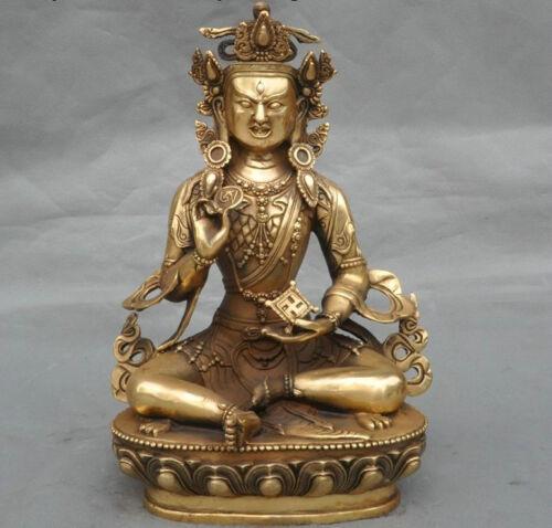 """12/""""Tibet buddhism brass Joss Exorcism Guru Rinpoche Padmasambhava buddha statue"""