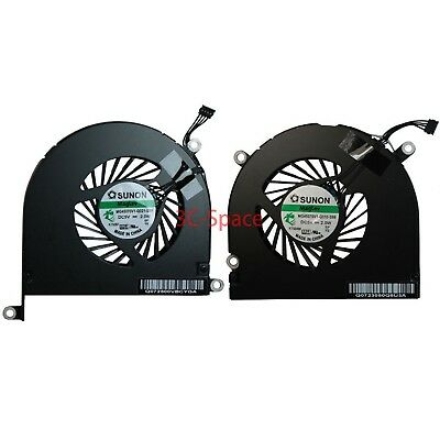 """Left and Right Cooling Fan for 17/"""" Apple MacBook Pro 17/"""" A1297 2009 2011"""