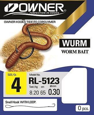 Vorfächer zur Auswahl gebundene Wurm Haken Owner Haken  Wurmhaken RL-5123