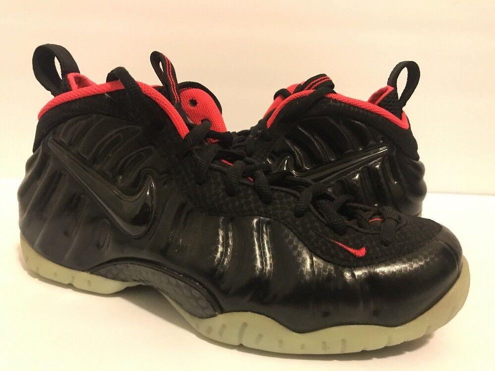 Nike Air Foamposite Pro Premium Yeezy Black Solar Red Size 9 616750-001 rare