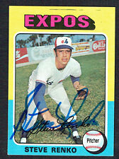 Steve Renko #34 signed autograph auto 1975 Topps MINI Baseball Trading Card