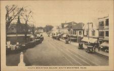 South Braintree MA Square c1920 Postcard