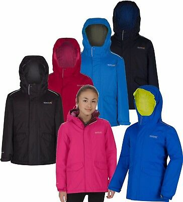 Regatta Childrens Sawyer Waterproof Thermoguard Insulated Hooded Jacket