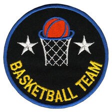 bf53 Basketball Team Korb Abzeichen Aufnäher Bügelbild Sport Patch 7,6 x 7,6 cm