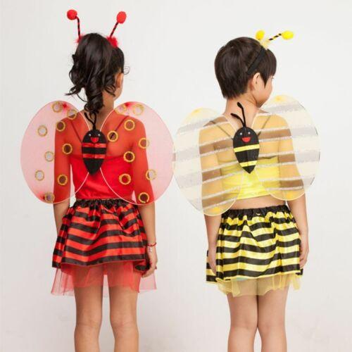 Kid Baby Halloween Costume Multi Layer Contrast Color Striped Honeybee Ladybird