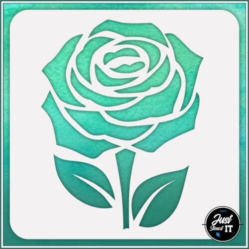 Rose #6 durable and reusable stencil for DIY painting /& crafts