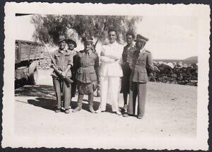 YZ7912-Militari-e-Ufficiali-in-posa-con-fucile-1933-Foto-epoca-Vintage-photo
