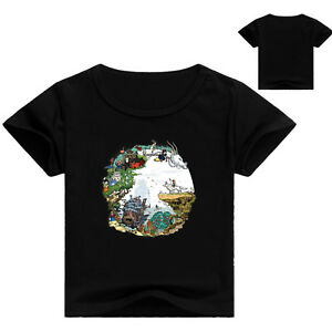 Studio Ghibli Artworks Totoro Nausicaä  Howl Laputa Kids Unisex T Shirt  AU Shop