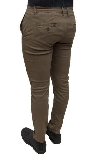 Pantaloni uomo Diamond invernali marrone slim fit denim jeans cotone da 42 a 54