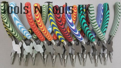 Foam Grips 6 in 1 Pliers Wires Looping Forming Bail Making Jump Ring 10 Colours