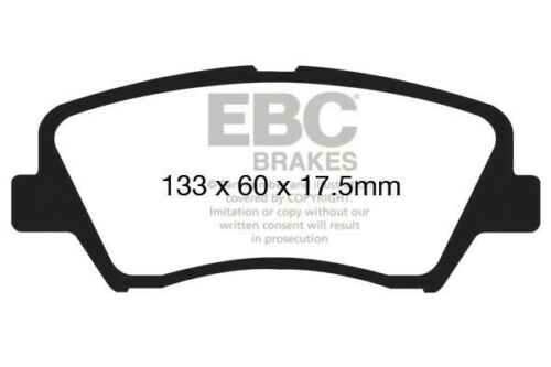 GD 2012 /> 17 Elec H//B EBC Ultimax Front Brake Pads for Hyundai i-30 1.6