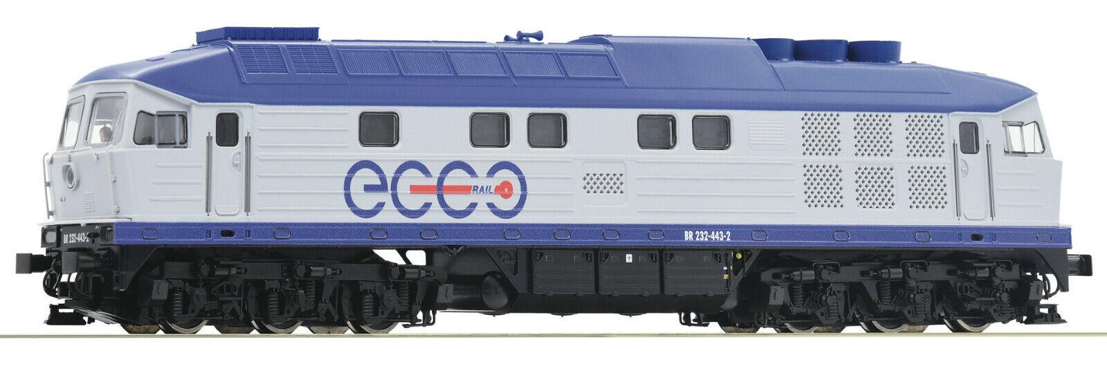 Roco 52467-diesel locomotora br 232, Ecco Rail, digital Henning Sound, novedad