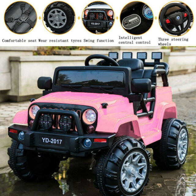 tobbi electric ride on jeep with remote control blackPower Wheels Jeep Wrangler Kids Battery Powered Toy Car 4x4 Red Ebay #15