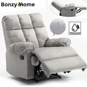 Waterproof-Velvet-Recliner-Chair-Heavy-Duty-Sofa-Overstuffed-Theater-Seating