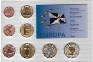 CEUTA-SPAIN-8-DIF-UNC-SET-1-CENT-2-EURO-2009-YEAR-PATTERN-ESSAI-PROVA