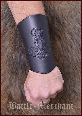 Armschiene Leder, Armschützer Armstulpe Wikinger LARP Mittelalter Gothic