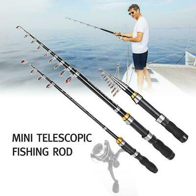 Spinning Fishing Rod and Reel Set Carbon Ultra Light Pole Tackle Fishing S7N8