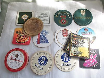 Coaster Collection Mixed Lot of 38 Cardboard Leather