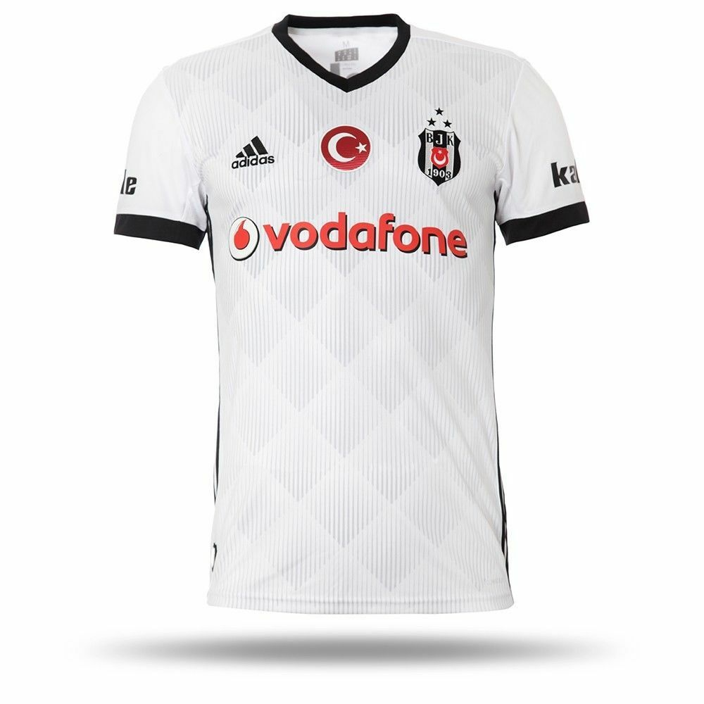 Besiktas Jersey BJK 2017 2018 Season bianca Match Home Jersey Adidas Original