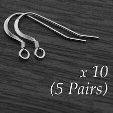 10x Genuine Sterling Silver Earring Hookwire Hook Wire Ear Findings with Spring