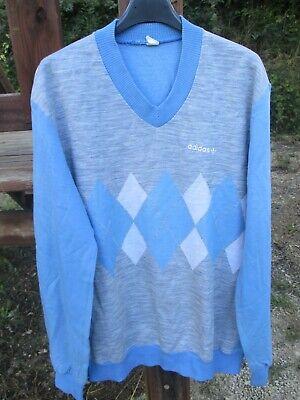 Sweat ADIDAS GREENWICH vintage Diamond années 80 shirt bleu trikot Ventex 180 L | eBay